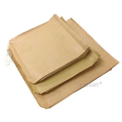 Brown Kraft  Strung Paper Food Bags for Sandwiches Groceries Gift Shop