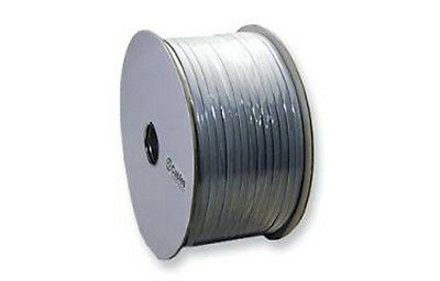 6 Conductor Silver Satin Flat Telephone Line Cord 1000 feet