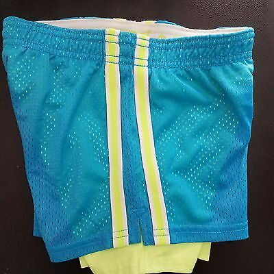 Justice Girl's Size 6 Blue Green Shorts