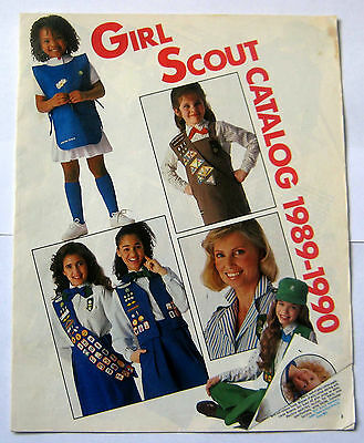 Girl Scout 1989-1990 EQUIPMENT CATALOG Book Official Uniform Jewelry Reference