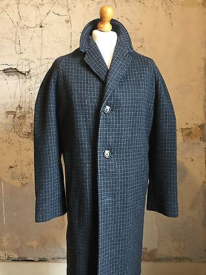 Vintage 1960's tweed wool raglan sleeve overcoat size 40 42