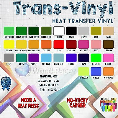 Heat Transfer Paper Tshirt Vinyl Film Roll HTV PVC Cutter Heat Press Machine PVC