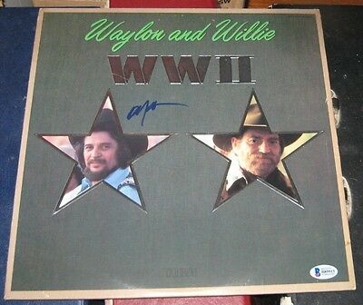 Willie Nelson Country Signed Autographed Waylon And Willie Wwii Album Bas 1982