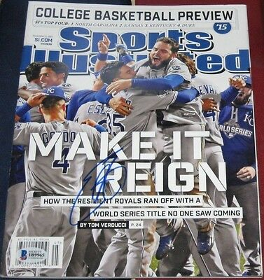 Eric Hosmer Kansas City Royals Signed Autographed Ws Sports Illustrated Si Bas