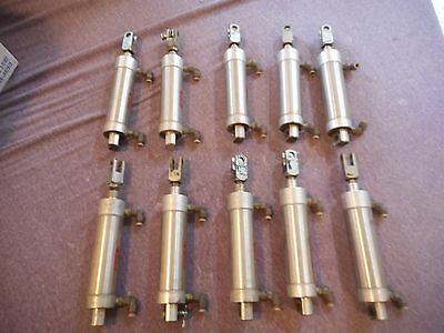 Lot of 10 USED BIMBA Stainless Pneumatic Cylinder SR-173-DP