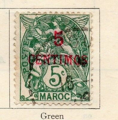 Morocco 1902 Issue Fine Used 5c. Surcharged 141082