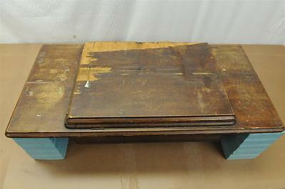 Antique Singer Treadle Sewing Machine Wood Top With Center Drawer