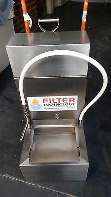 Commercial mobile lightweight fryer oil filtration machine
