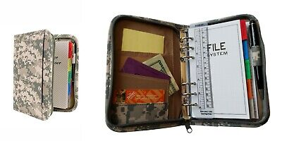 6- Ring Binder Camouflage Planner Organizer Folder with Time Management Pages