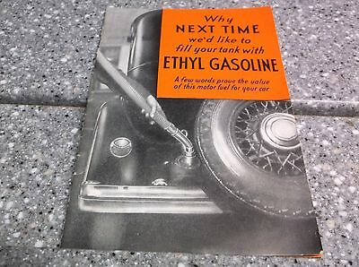 1933 Ethyl Gasoline booklet crisp and clean
