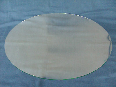 Vintage Oval Bubble / Bowed Glass 13 1/2 x 19 5/8 w/ Frame