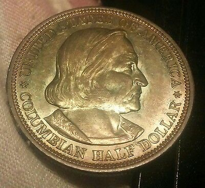 1893 Columbian Expo 50c**BU**High Grade** Rainbow Toned**