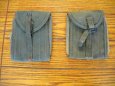 Lot Of 2 Vintage 1945 U.s. Military M15 Cleaning Rod Pouches 064274A