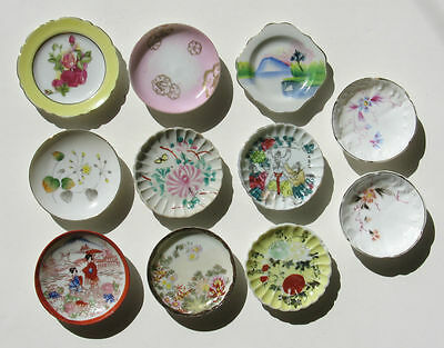 Mixed Lot of 11 Butter Pats Mini Plate Teabag Rests Japan Nippon China Vintage