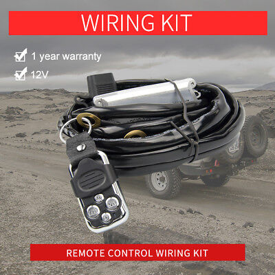 Wiring Loom Harness Kit Flash Wireless LED Work Light Bar 12V Remote Control