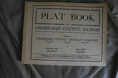 CHAMPAIGN COUNTY ILLINOIS PLAT BOOK 1930s