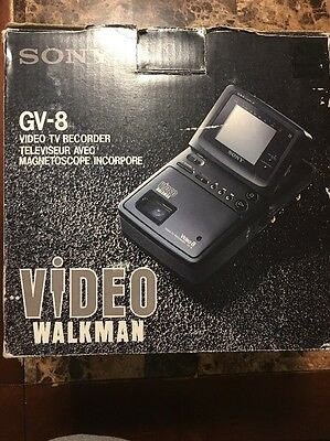 Sony GV-8 Video Walkman TV Recorder with Box & Original Accessories