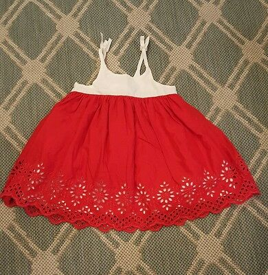 baby gap 3-6 month girls summer eyelet dress. gorgeous! euc!