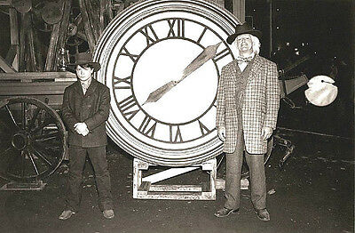 """Back to the Future 3 Marty & Doc Clock 1885 - 17"""" x 22"""" Movie Prop Print - 00214"""