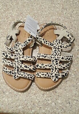 Baby gap girls toddler size 8 sandals.  Leopard.  new with tags!