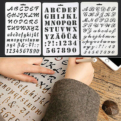 Letter Alphabet Number Layering Stencils Painting Scrapbooking Paper Craft