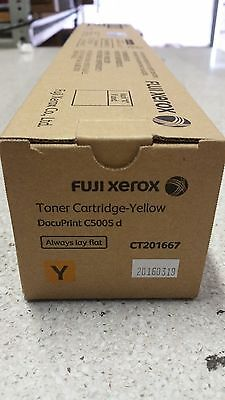 Genuine Fuji Xerox CT201667 Yellow Toner for DocuPrint CP5005D 25k See Photos!!!