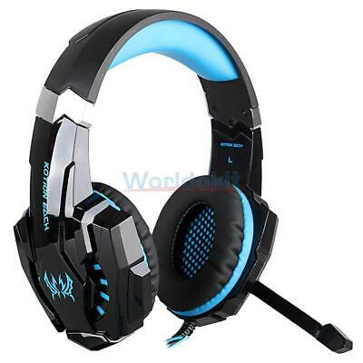KOTION EACH G9000 Pro Gaming 3.5mm Stereo Headset USB LED Headphone Mic 2.2m New