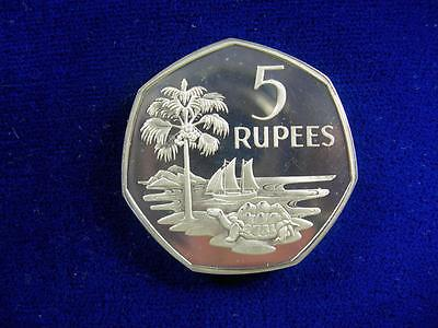SEYCHELLES - 1972 silver 5 Rupees - Lightly toned PROOF