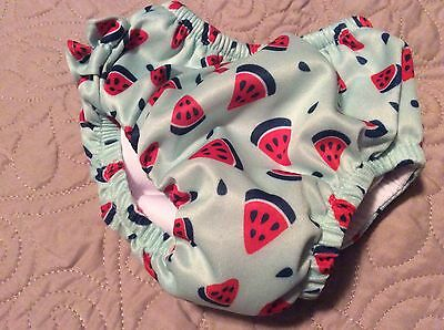 Baby Girl 12 Mos Swim Diaper EUC Watermelons Ruffle Butt