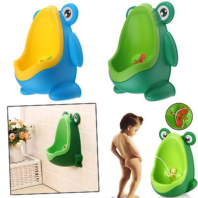 Cute Frog Shaped Children Potty Toilet Training Urinal Boys Pee Trainer Bathroom