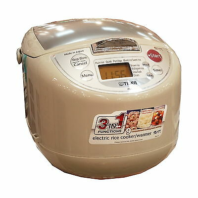 Tiger Electric 3 in 1 Rice Cooker Warmer Steamer 10 Cup 1.8L Japan Made JBA-T18A