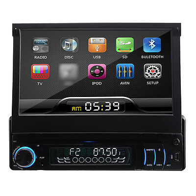 "HOT 7"" Touch Screen Single Din Car Stereo Sat Nav DVD Player GPS Bluetooth ZH06"