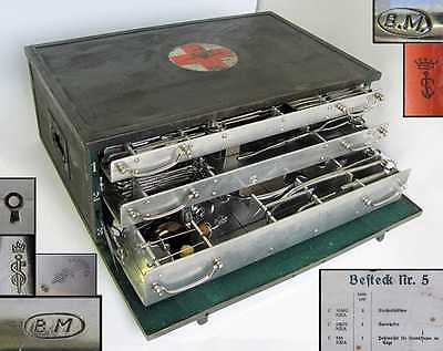 Wwii Original German Wehrmacht Medical Surgical Instruments Set Aesculap Mint