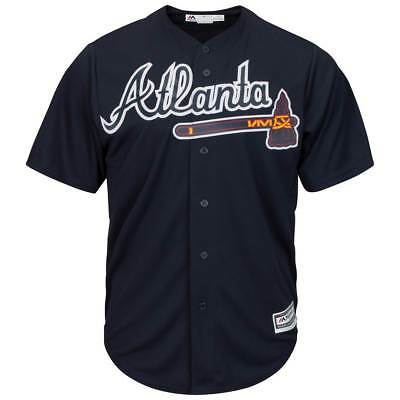 Majestic Atlanta Braves Cool Base MLB Trikot Alternate Navy
