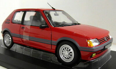 Norev 1/18 Scale Peugeot 205 GTi 1.6 1988 Vellelunga red Diecast model car
