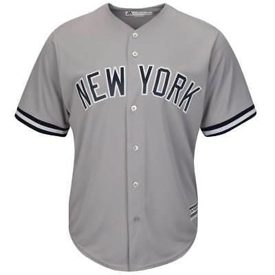 Majestic New York Yankees Cool Base MLB Trikot Road Grau