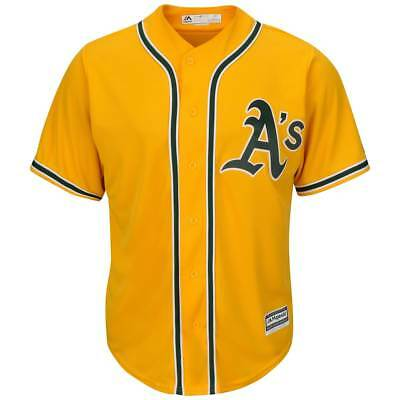 Majestic Oakland Athletics Cool Base MLB Trikot Alternate Gelb