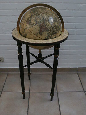 Library Style Wooden Stand With 13 Inch Terrestrial Globe Globus Mappemonde