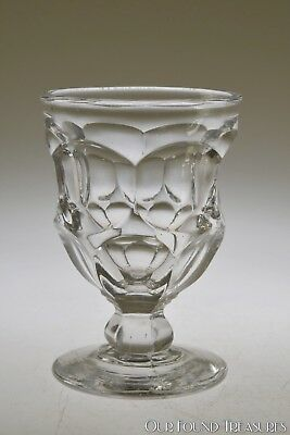 c. mid 1800s ASHBURTON by Various FLINT CRYSTAL Egg Cup - Straight Rim Knob Stem
