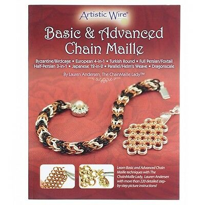 Basic and Advanced Chain Maille Book by Lauren Andersen (A24/6)