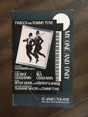 "14"" X 22"" Poster of GEorge Gershwin's musical  ""My One and Only'""-Twiggy"