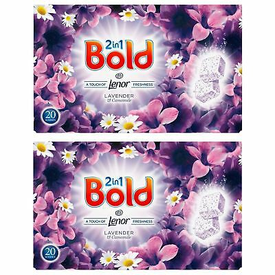 Bold 2in1 80 Tablets Washing Laundry Detergent Lavender Camomile Tabs 40 Washes