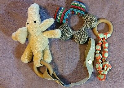 3 natural baby toys Ringley natural teething toy elephant