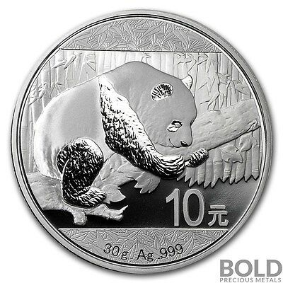 2016 Silver Chinese Panda .999 - 30 g Coin Mint Issued Capsule