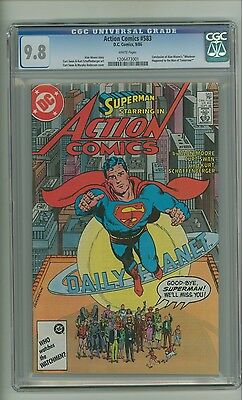 Action 583 (CGC 9.8) White pages; Superman; Alan Moore story; DC; 1986 (c#13525)