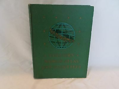 Vintage Collier's World Atlas and Gazetteer 1943 1944 Maps
