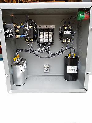 5hp Cnc Balanced 3 Phase Rotary Converter Panel