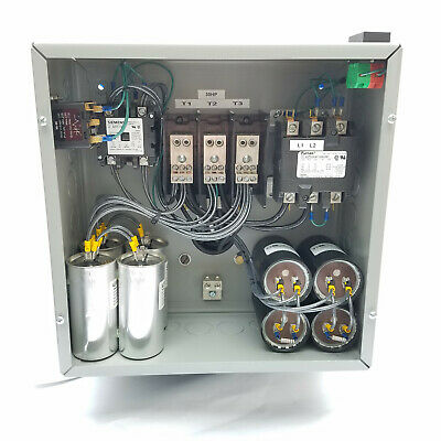 30hp Cnc Balanced 3 Phase Rotary Converter Panel