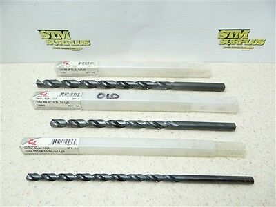 "New!!! Lot Of 3 Chicago-Latrobe Hss Extra Length Jobber Drills 17/64"" To 7/16"""