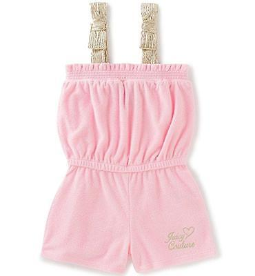 Juicy Couture Toddler/Little Girls Pink Hooded Romper Size 2T 3T 4T 4 5 6 6X